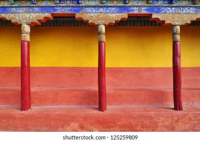Colorful Tibetan wall