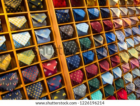0b9218af2443 Colorful Tie Collection Mens Shop Stock Photo (Edit Now) 1226196214 ...