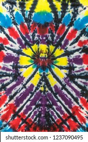Colorful Tie Dye Shirt Spider Design