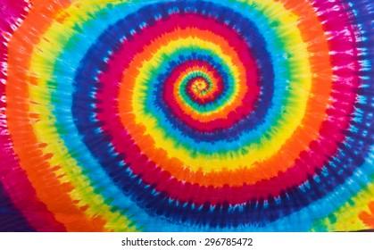 Colorful Tie Dye Spiral Pattern