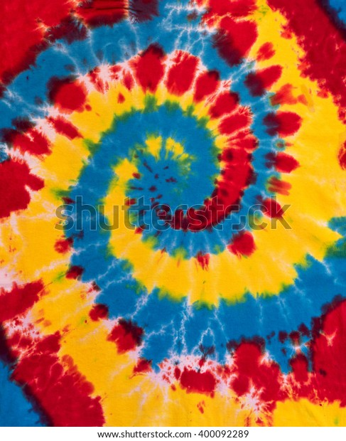 Colorful Tie Dye Swirl Spiral Design Pattern