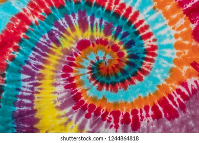 Colorful Tie Dye Traditional Swirl Pattern Design