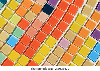 Colorful tile background with sun light.