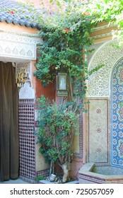 Colorful tiles Marrakech Morocco