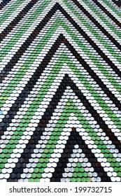 Colorful tiles mosaic in Vienna, Austria