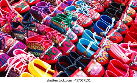 Colorful toddler shoes.