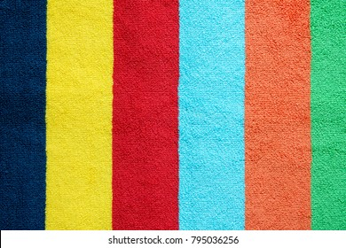 Colorful towel texture