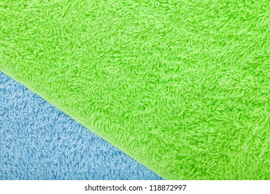 Colorful towels macro texture background