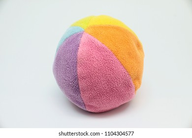 colorful toy ball isolated on white background