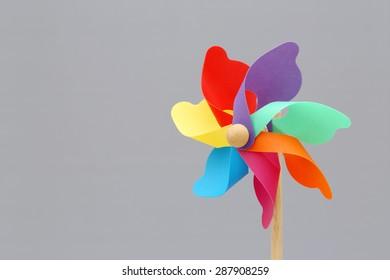 Colorful toy pinwheel