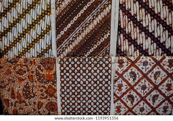Colorful Traditional Batik Yogyakarta Stock Photo Edit Now 1193951356