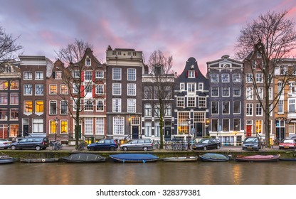 Colorful traditional canal houses on Brouwersgracht in the grachtengordeal the UNESCO World Heritage site of Amsterdam