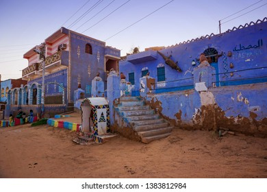 The colorful and traditional houses of the inhabitants of Keta Dool, a small Nubian village