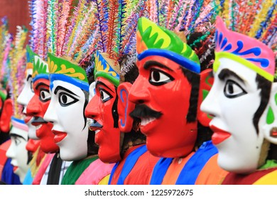 Colorful of Traditional Mask  Ondel Ondel