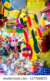 Colorful traditional toys from Guatemala, Central America