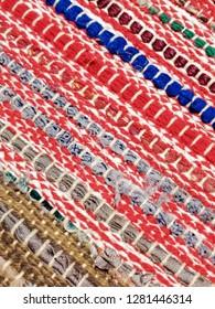 Colorful Traditionl Sadu Rug Weaving Background