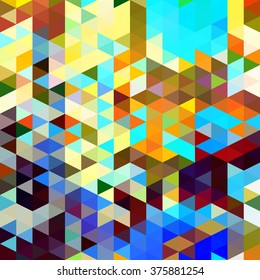 Colorful Triangles Mosaic in a Random Pattern