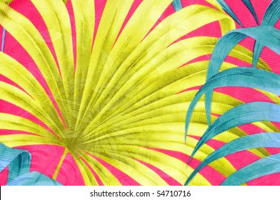 Colorful tropical background pattern or design