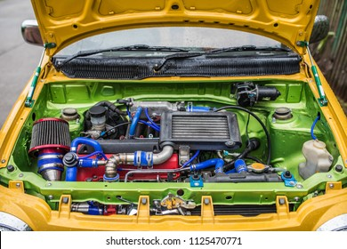 Colorful turbo engine