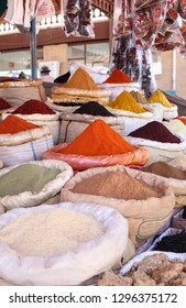Colorful Turkish Herbs and Spice in a Turkish shop