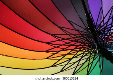 Colorful umbrella for a colorful background.