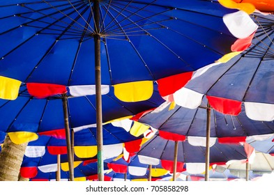 colorful umbrella beach
