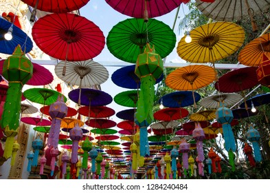 colorful of umbrella in Nan, Northern Thailand