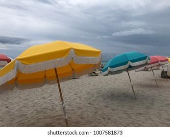 Colorful Umbrellas on Miami Beach