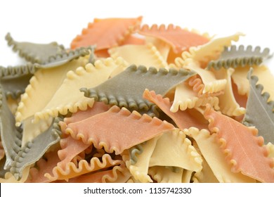 colorful and uncooked Italian pasta