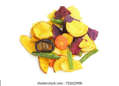 colorful vegetable chips