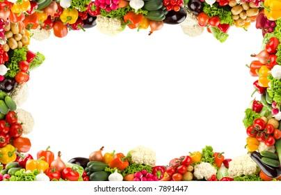 Colorful vegetable frame