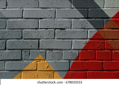 Colorful very small fragment of street graffiti, brick wall. Abstract creative drawing fashion colors. For backgrounds