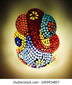 colorful vibrant elephant shaped decorative light artefact