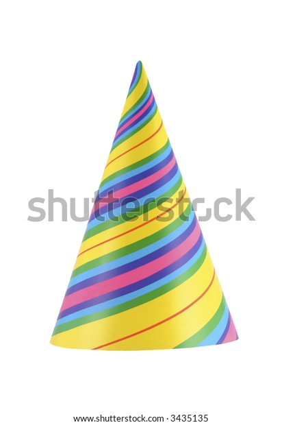 Colorful and vibrant part hat isolated on white