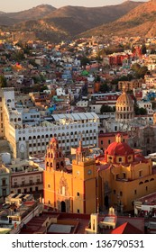 Colorful view of the city of Guanajuato, Mexico.