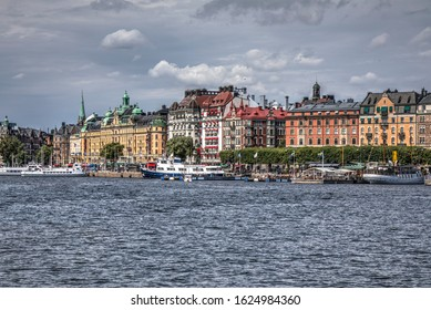 A colorful view of Stockholm on The Baltic Sea, Sweden