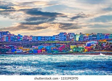 Colorful Village on Coast of San Juan