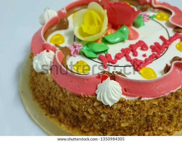 Sensational Colorful Vintage Birthday Cake Ingredients Including Stock Photo Personalised Birthday Cards Paralily Jamesorg