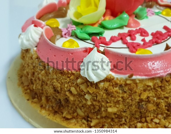 Terrific Colorful Vintage Birthday Cake Ingredients Including Stock Photo Personalised Birthday Cards Paralily Jamesorg
