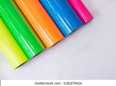Colorful vinyl rolls