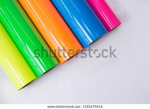 Farbige Vinyl-Rollen