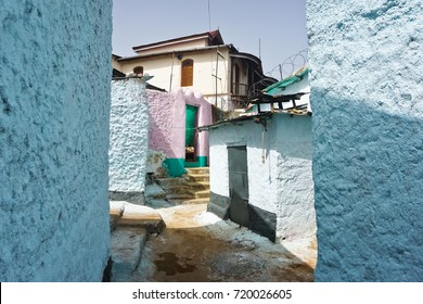 Colorful Walled Streets in the Old City, Harar, Ethiopia