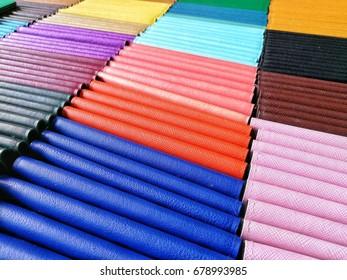 Colorful wallet Beautiful arrangement