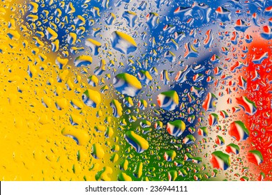 Colorful water drops background/Colorful water drops background