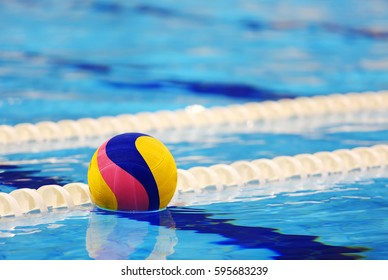 Colorful water.ball in swimming-pool