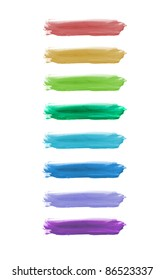 Colorful watercolor brush strokes.