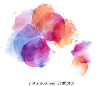 Colorful watercolor surfaces