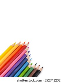Colorful wave of pencil