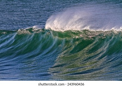 Colorful wave in a sunny day