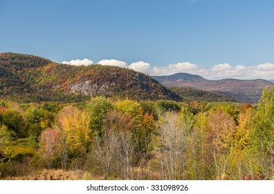 Colorful White mountain National forest in autumn, New  Hampshire.